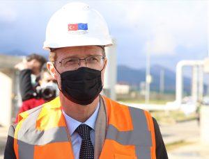 AB Türkiye Delegasyonu Başkanı Meyer-Landrut, Hatay'daki arıtma tesislerinde incelemelerde bulundu