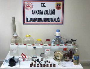 Ankara'da sahte içki üretimi yaptığı belirlenen şüpheli gözaltına alındı