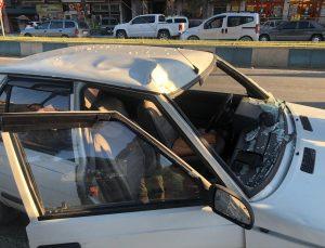 Aydın'da karşıya geçmek isterken otomobilin çarptığı lise öğrencisi yaralandı