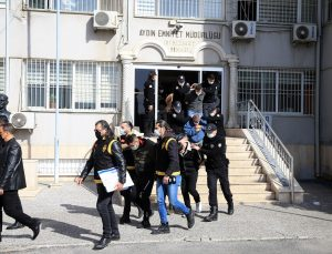 Aydın'daki suç örgütü operasyonunda gözaltına alınan 8 kişi tutuklandı