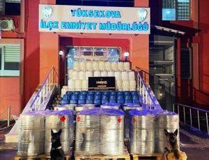 Bakan Soylu, Hakkari'de 7 ton 420 kilo asetik anhidrit ele geçirildiğini bildirdi