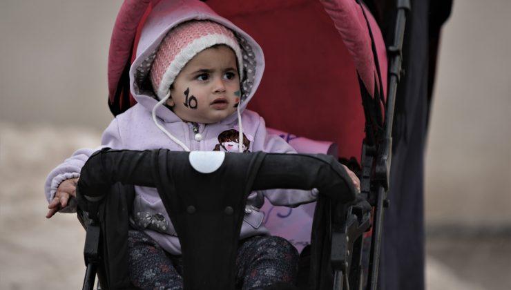 Barış Pınarı Harekatı bölgesinde Suriye'deki ayaklanmaların 10. yılında protestolar düzenlendi