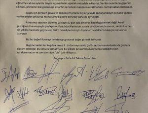 Bursasporlu oyuncular ortak bildiriyle maaşlarının ödenmediğini iddia etti: