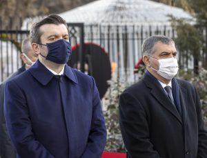 Cebeci Asri Mezarlığı'ndaki Dışişleri Şehitliği'nde diplomatlar için anma töreni düzenlendi