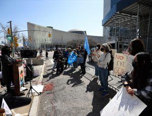Çin'in Uygur Türklerine yönelik insan hakları ihlalleri New York'ta protesto edildi
