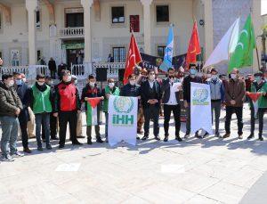 Denizli'de Genç İHH, Kudüs'teki hukuksuzlukların durdurulması için uluslararası kurumları göreve çağırdı