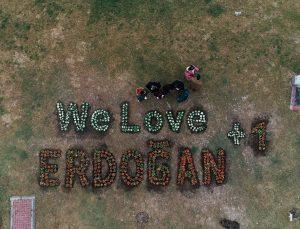 Down sendromlu çocuklardan Cumhurbaşkanı Erdoğan'a anlamlı destek