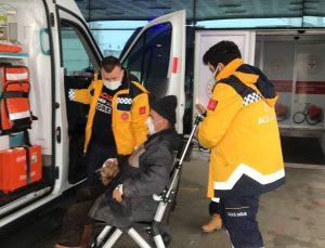 Düzce'de köpeğin saldırısı sonucu yüzünden ağır yaralanan kişi hastaneye kaldırıldı