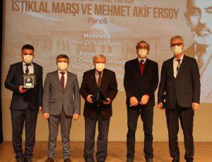 Ege Üniversitesinde İstiklal Marşı ve Mehmet Akif Ersoy paneli düzenlendi