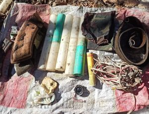 """""""Eren-7 Mercan Munzur Operasyonu""""nda teröristlerce kullanılan 5 sığınak imha edildi"""