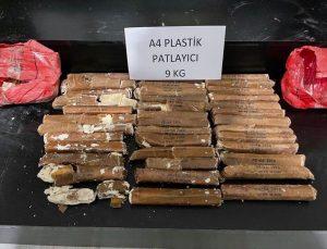 Hakkari'de 9 kilo 200 gram A-4 plastik patlayıcı ele geçirildi