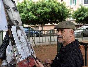 İç savaştan kaçan Suriyeli Kemal'in çocukluk tutkusu resim Lübnan'da geçim kaynağı oldu