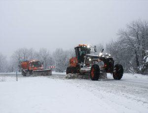 Kütahya'da kar etkili oldu
