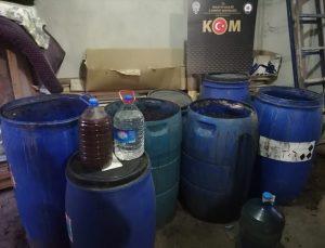Malatya'da 1234 litre sahte içki ele geçirildi: 1 gözaltı