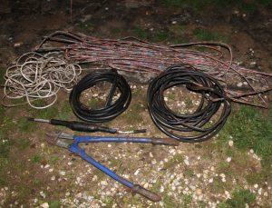 Manisa'da kablo hırsızı yakalandı