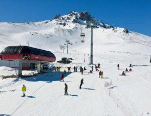 Mart ayında yağan kar Erciyes'teki turizmcilere can suyu oldu