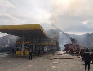 Ordu'da benzin istasyonunun idari binası yangında zarar gördü