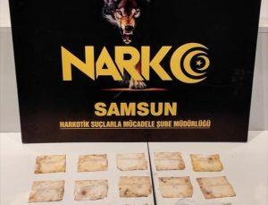 Samsun'da selülozik kağıda emdirilmiş sentetik uyuşturucu ele geçirildi