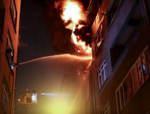 GÜNCELLEME – Şişli'de lastik deposunda çıkan yangın söndürüldü