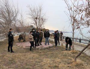 Van'da mesire alanındaki ağaçlar kimliği belirsiz kişi ya da kişilerce kesilerek göle atıldı