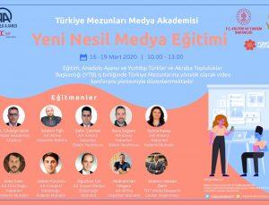 """YTB ile AA iş birliğinde Türkiye mezunlarına yönelik """"Yeni Nesil Medya Eğitim Programı"""" başladı"""