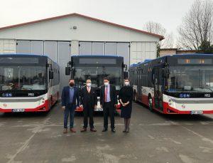 Çekya'da Prag Belediyesi, BMC firması tarafından üretilen otobüsleri bugün toplu taşıma filosuna kattı