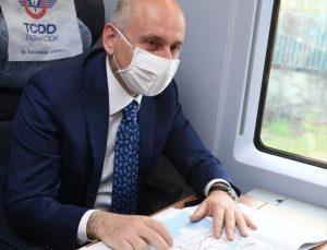 Bakan Karaismailoğlu, Konya-Karaman YHT Hattı'nın ilk test sürüşüne katıldı: