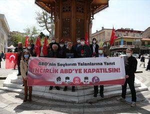 """Bursa'da ABD Başkanı Biden'ın 1915 olaylarını """"soykırım"""" olarak nitelemesi protesto edildi"""