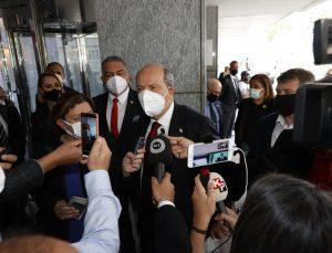 Cenevre'deki 5+1 gayriresmi Kıbrıs konferansında Guterres-Tatar ikili görüşmesi sona erdi