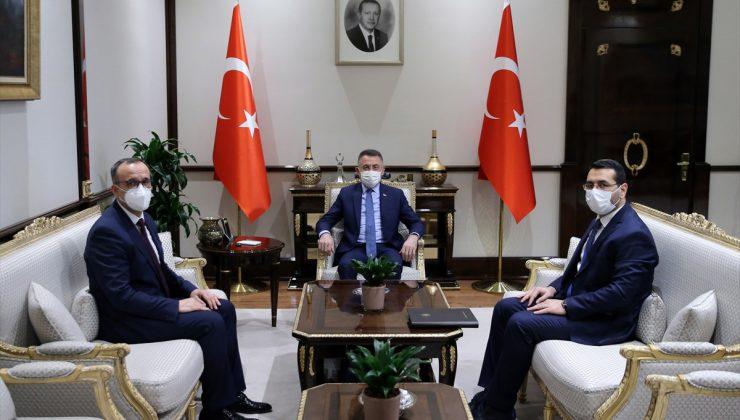 Cumhurbaşkanı Yardımcısı Oktay, Atatürk Kültür, Dil ve Tarih Yüksek Kurumu Başkanı Hekimoğlu'nu kabul etti