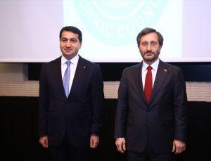 Cumhurbaşkanlığı İletişim Başkanı Altun, Azerbaycan Cumhurbaşkanı Müşaviri Hacıyev'le görüştü