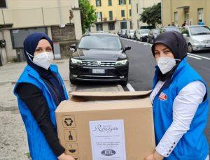 DİTİB, İtalya'daki mültecilere ve ihtiyaç sahibi ailelere ramazan yardımı yaptı