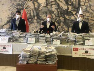 """Gaziantep'te """"Zimem Defteri"""" projesiyle 29 bin 500 ailenin borcu silindi"""