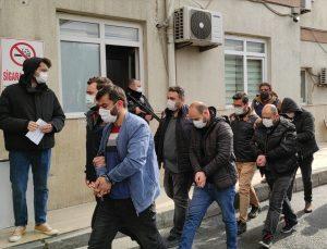 İstanbul'da terör örgütü PKK/KCK'ya yönelik operasyonda yakalanan 8 şüpheli adliyeye sevk edildi
