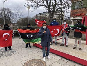 İsveç'te yaşayan Libyalılardan Türkiye'ye teşekkür gösterisi