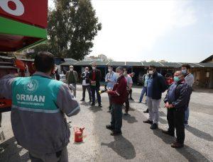 İzmir'de orman yangınıyla mücadele için 121 gönüllüye eğitim verildi