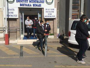 İzmir'de sahte banka evrakıyla 2 kişiyi 3 milyon 540 bin lira dolandıran 3 kişi tutuklandı