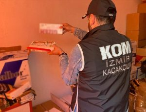 İzmir'de tütün kaçakçılığı operasyonunda 2 kişi yakalandı