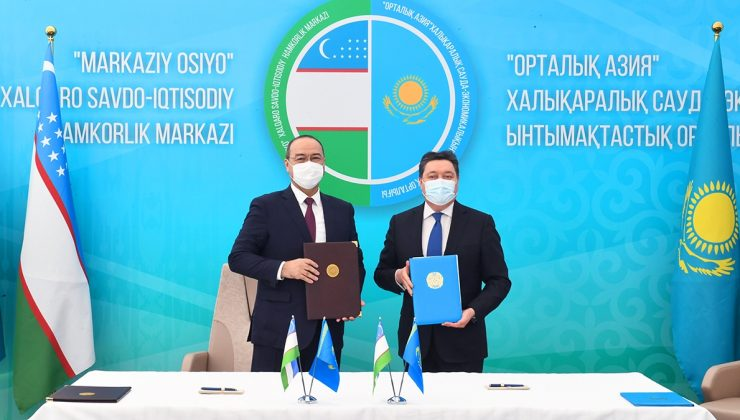 """Kazakistan ve Özbekistan sınırında """"Orta Asya"""" Uluslararası Ticaret ve Ekonomi Merkezi'nin inşaatı başlatıldı"""