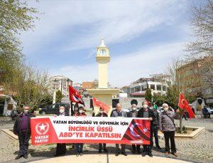 """Kırklareli'nde ABD Başkanı Biden'ın 1915 olaylarını """"soykırım"""" olarak nitelemesi protesto edildi"""
