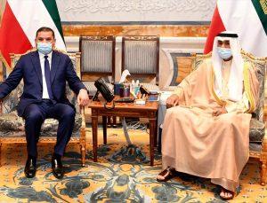 Kuveyt Emiri Sabah, Libya Ulusal Birlik Hükümeti Başbakanı Dibeybe'yi kabul etti