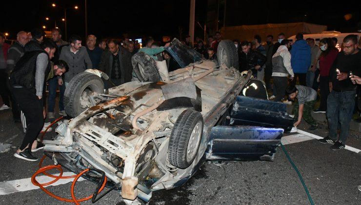Manisa'da otomobiller çarpıştı: 2 ölü, 4 yaralı