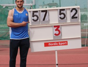 Milli diskçi Enes Çankaya, Olimpik Deneme Yarışması'nda Türkiye rekoru kırdı