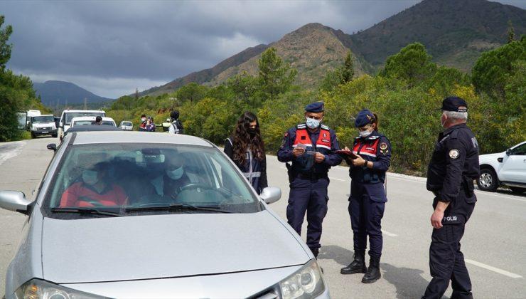 Muğla'da Kovid-19 tedbirlerine ve trafik kurallarına uymayan 22 kişiye ceza kesildi