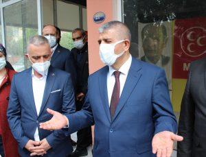 Ödemiş'te MHP İlçe Başkanlığının ramazan kolisi dağıtımı devam ediyor