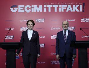 Saadet Partisi Genel Başkanı Karamollaoğlu, İYİ Parti Genel Başkanı Akşener ile görüştü