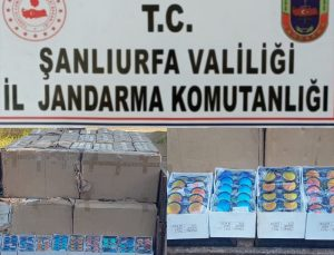 Şanlıurfa'da gümrük kaçağı 128 bin makaron ve 33 bin güneş gözlüğü ele geçirildi