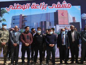 Suriye'nin kuzeyindeki Biza'a beldesinde hastane temeli atıldı