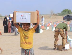 TİKA, Yemen'de ihtiyaç sahibi 1000 aileye 45 tonluk gıda paketi dağıttı
