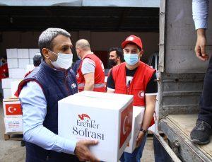TİKA'dan Azerbaycan'daki ihtiyaç sahibi ailelere ramazan yardımı